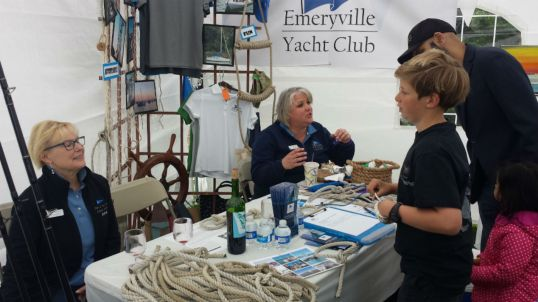 Emeryville Yacht Club demonstrated nautical knots.