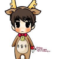 [FANART] 121224 KyuDolph! Kyuhyun the Rein-deer ㅋㅋ