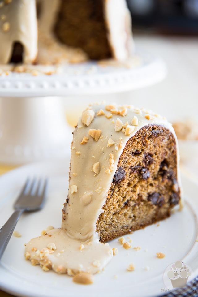 Banana Peanut Butter Bundt Cake | eviltwin.kitchen