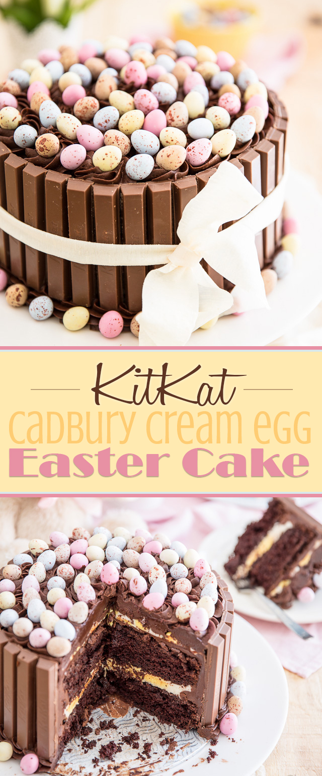 Easter KitKat Cake with Cadbury Cream Egg Filling | eviltwin.kitchen