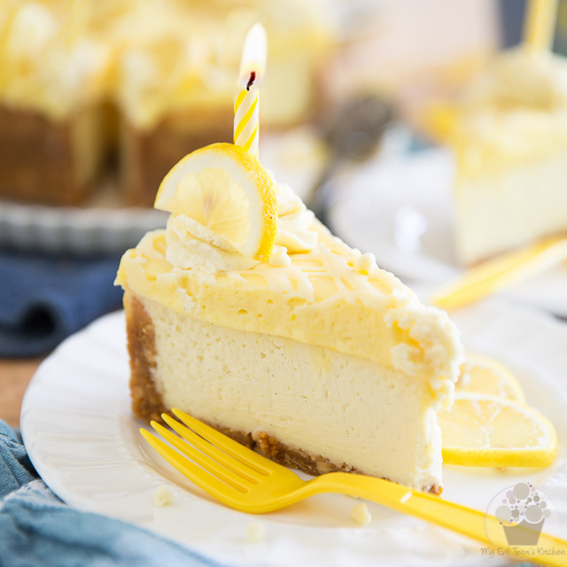 White Chocolate Lemon Curd Cheesecake