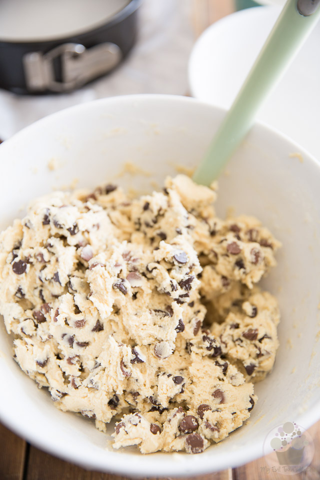 Chocolate Chip Cookie Dough Cheesecake by My Evil Twin's Kitchen   Recipe and step-by-step instructions on eviltwin.kitchen