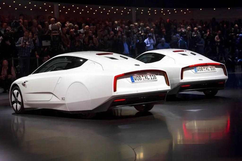 Two new Volkswagen hybrid XL1 model cars