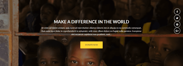 Non-Profit Organizations Theme charitize donation
