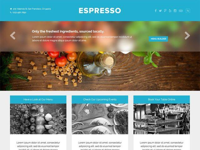 best premium wordpress restaurant themes: Espresso