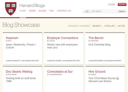 notable websites using wordpress: Harvard Law