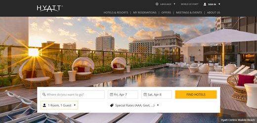 notable websites using wordpress: Hyatt Blog