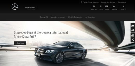 notable websites using wordpress: Mercedes-Benz