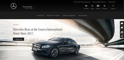 notable websites using wordpress: Mercedes-Benz