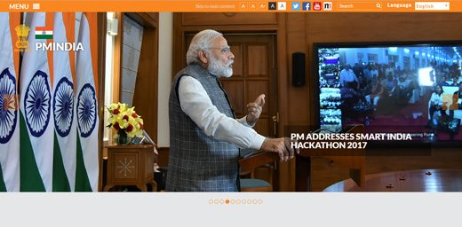 notable websites using wordpress: PMIndia.gov
