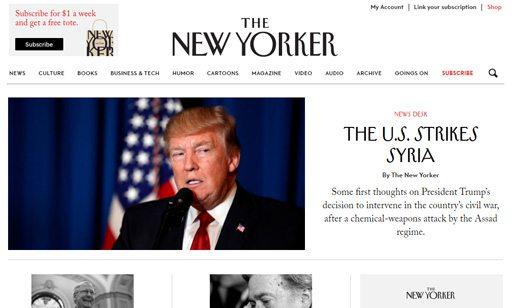 notable websites using wordpress: The New Yorker