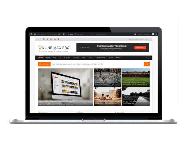 OnlineMag Pro - eVision Themes Store