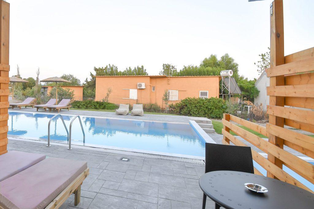 Evita Mare Hotel Sharing Pool Veranda View Faliraki Rhodes Greece