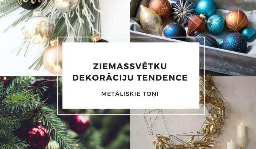 Ziemassvētku dekorāciju tendece METĀLISKIE TOŅI
