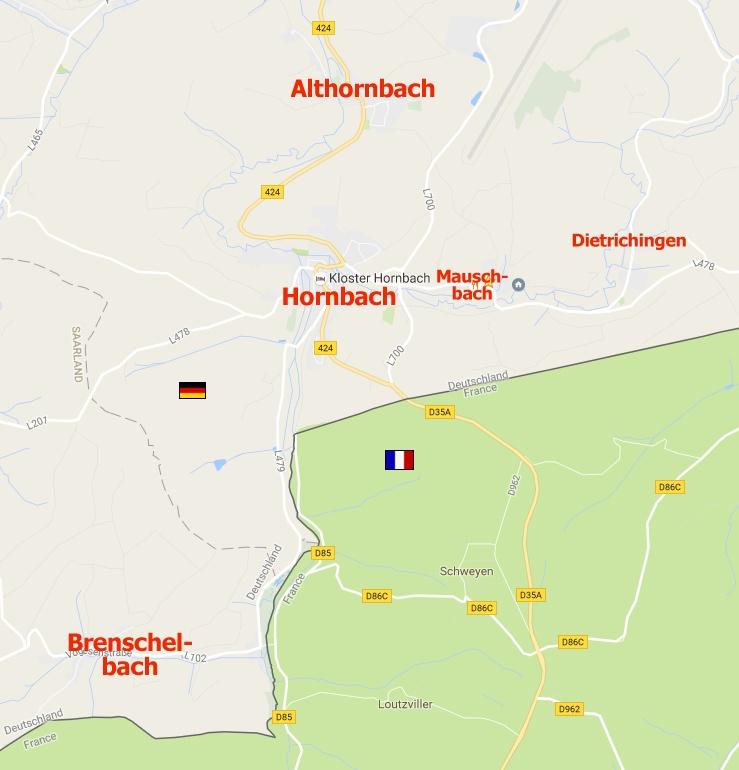 Diese Karte beruht auf diesem GoogleMaps-Ausschnitt