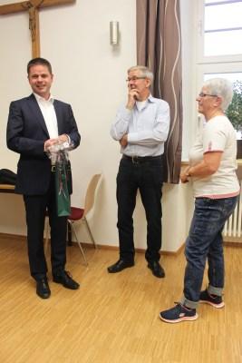 dem Referenten wird durch Bürgermeister Spanberger gedankt