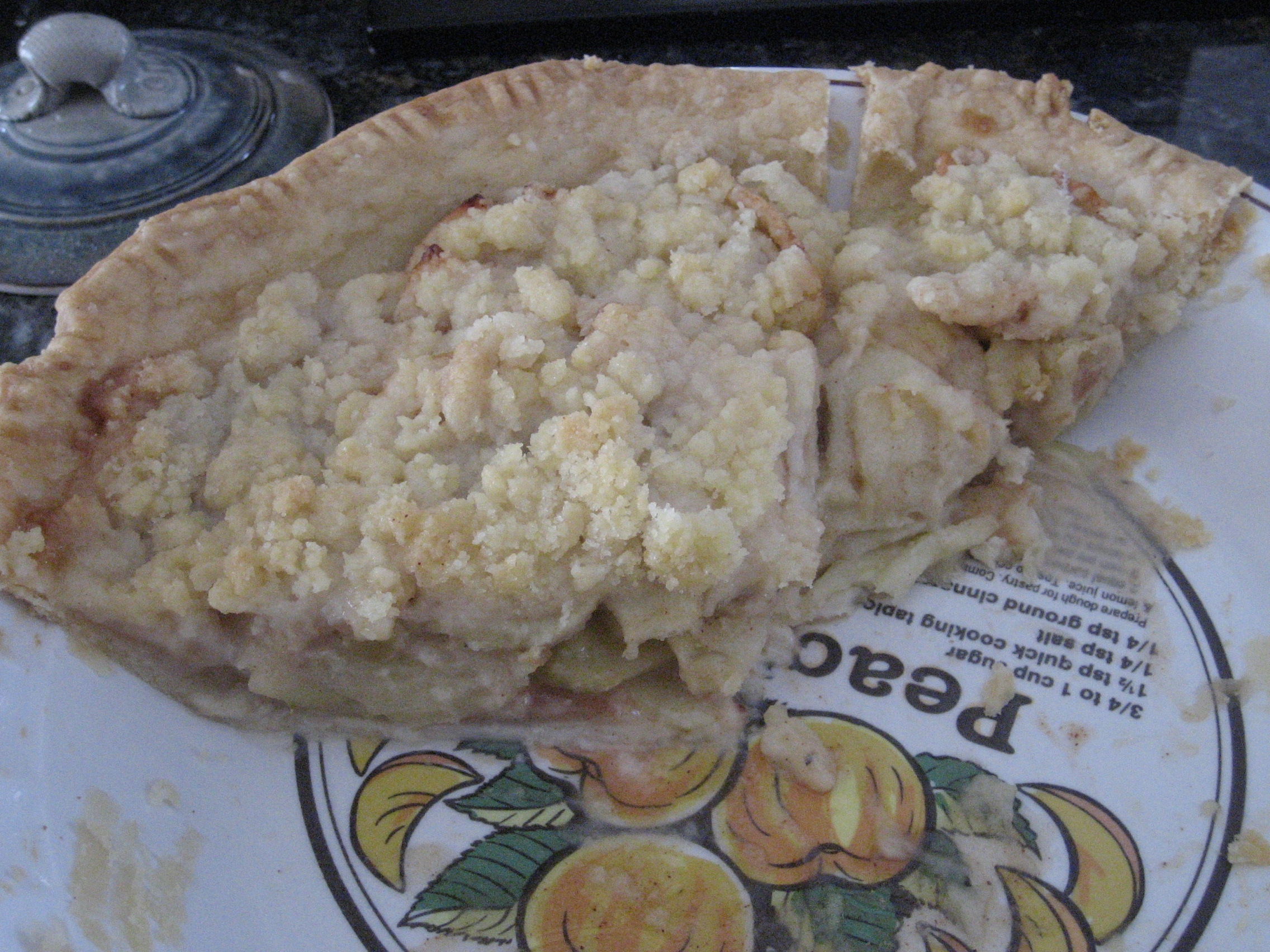 Almost gone apple pie