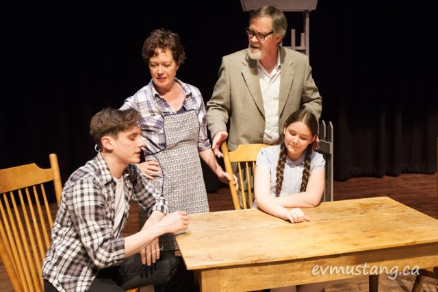 image of the gibbs family from new stages production of our town