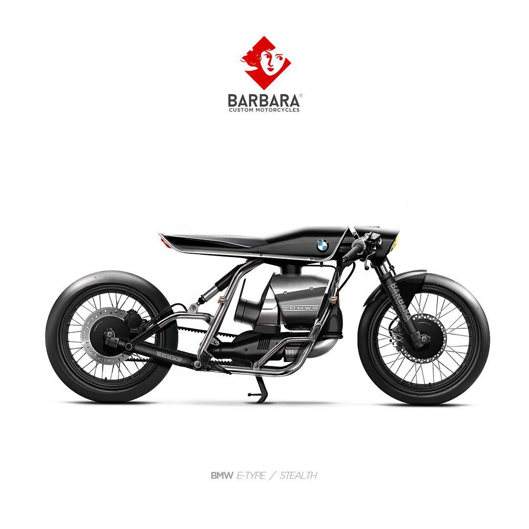Barbara Custom Electric Motorcycles Made With Photoshop