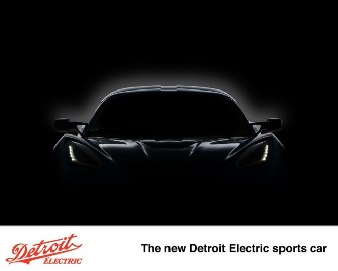 New Detroit Electric sports car to be revealed in April 2013. (PRNewsFoto/Detroit Electric)
