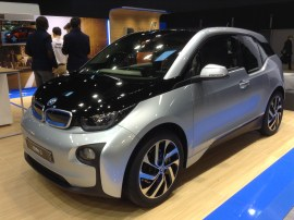Silver and black BMW i3 at EVS27 in Barcelona, Spain.(This image is available for republishing and even modification under a CC BY-SA license, with the key requirement being that credit be given to Zachary Shahan / EV Obsession / CleanTechnica, and that those links not be removed.)