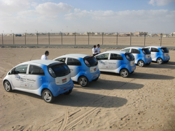 Masdar-City-Mitsubishi-i-electric-vehicles