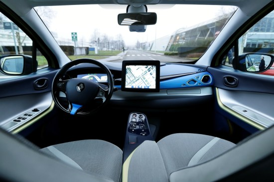 Renault's driverless EV prototype, the Next Two, driving autonomously. Image #3.