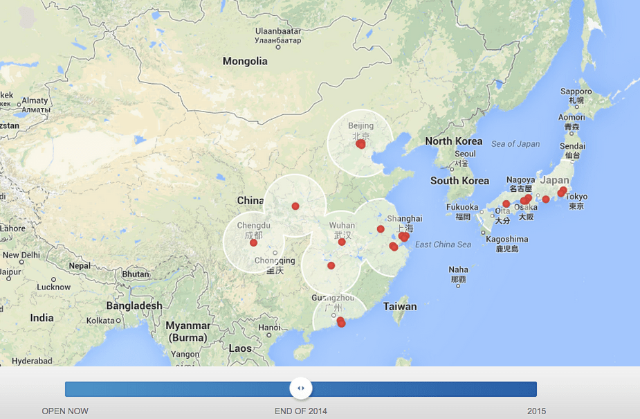 Asia Tesla Supercharger Maps Updated −