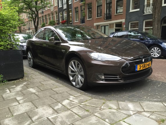 Tesla Model S Brown Amsterdam 2
