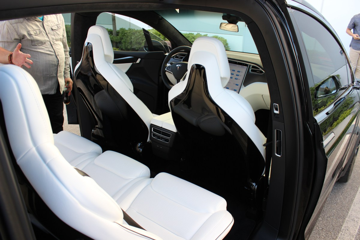 New Tesla Model X 5 Seat Configuration Back Seats Can Be