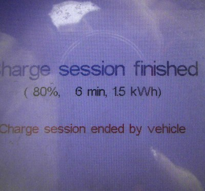 initial charge to 80%
