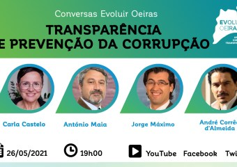Cartaz Conversas Evoluir Oeiras Transparência e Prevenção da Corrupção