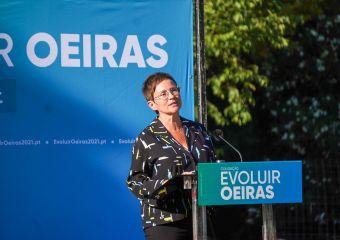 Carla Castelo - Coligação Evoluir Oeiras lançamento da candidatura em Miraflores