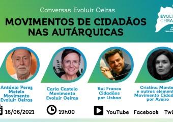 cartaz conversas Evoluir Oeiras movimentos de cidadãos nas autárquicas
