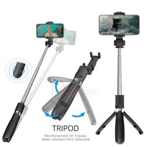 Wireless Bluetooth Selfie Stick 3 in 1 Extendable Handheld Monopod With Remote Shutter Mobile Phone Accessories Selfie Sticks & Tripods cb5feb1b7314637725a2e7: Black|black|black