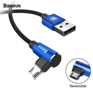 Reversible Micro USB Fast Charger Wire Cable For Android Mobile Phone USB Phone Cables cb5feb1b7314637725a2e7: Black|Blue|Red