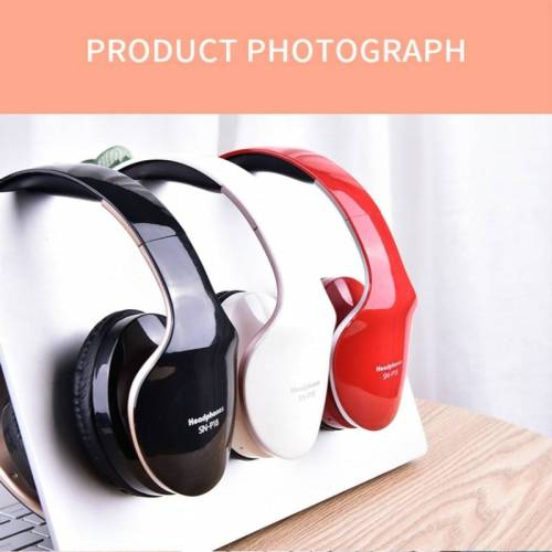 Bluetooth Foldable Wireless Headphones Stereo – Gaming Earphones With Mic For PC & Phones Earphones & Headphones cb5feb1b7314637725a2e7: Black|Red|WHITE