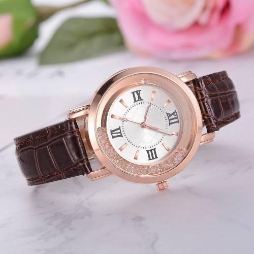 Rhinestone Leather Bracelet Wristwatch – Alloy Analog Quartz Wrist Watches cb5feb1b7314637725a2e7: Black Blue box Brown Pink Red WHITE