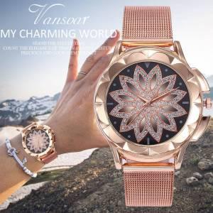 Fashion Rose Rhinestone Wrist Quartz Watches – Luxury Casual for Female Wrist Watches cb5feb1b7314637725a2e7: Rose Gold