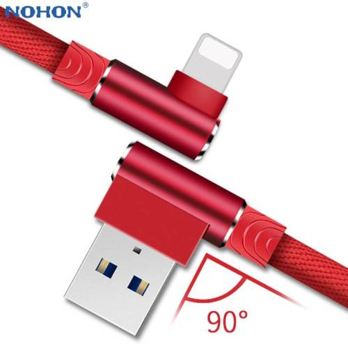 90 Degree Fast Charger Data USB Cord For iPhones & iPads USB Phone Cables cb5feb1b7314637725a2e7: Black|Blue|grey|Red|WHITE