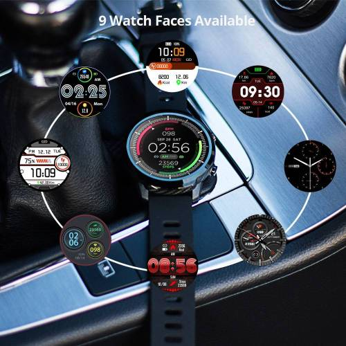Full touch Smart Watch Sports Clock – Heart Rate Monitor for IOS Android Phone Wrist Watches cb5feb1b7314637725a2e7: Black|Blue|Red
