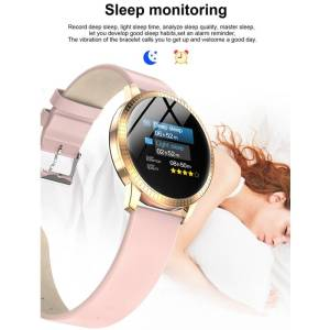 OLED Screen Push Message Bluetooth Connectivity for Android IOS- GPS Fitness Tracker Heart Rate Monitor Wrist Watches cb5feb1b7314637725a2e7: Black|Pink|Silver
