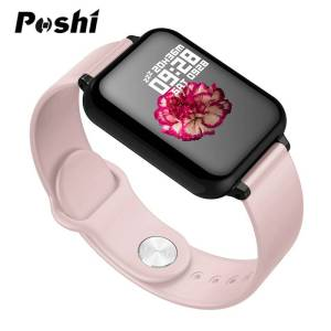 Smart watch Waterproof Heart Rate Monitor – Color Screen Blood Pressure Functions Wrist Watches cb5feb1b7314637725a2e7: Black|Pink|WHITE