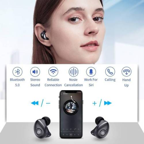 True Wireless Earbuds Bluetooth Sport stereo – Auto Pair 5 Hour Play Charging Case Earphones & Headphones cb5feb1b7314637725a2e7: Go Earphone Black|Go Earphone Red