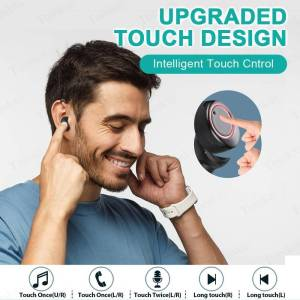 Wireless Earphone Bluetooth Power Display Touch Control – Sport 9D Stereo Cordless Earphones & Headphones cb5feb1b7314637725a2e7: T10 black|X11 black|X11 white