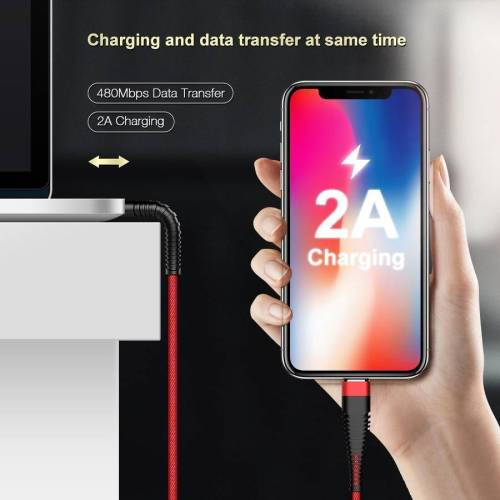 USB Cable for iPhones, 1M/2M Hi-Tensile 2A Fast Charging Phone Cables USB Phone Cables cb5feb1b7314637725a2e7: 1M Charming Blue 1M Classic Black 1M Flaming Red 2M Charming Blue 2M Flaming Red