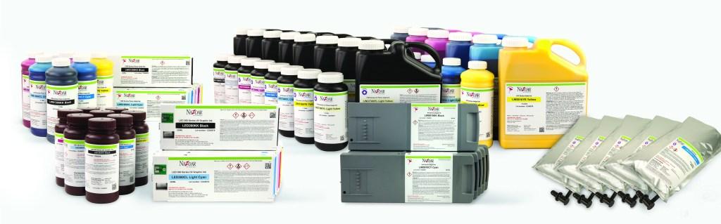 Gama Completa de Tintas alternativas Compatibles para cada Tecnología de Cabezal.