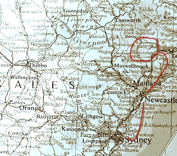 From Sydney to Gloucester