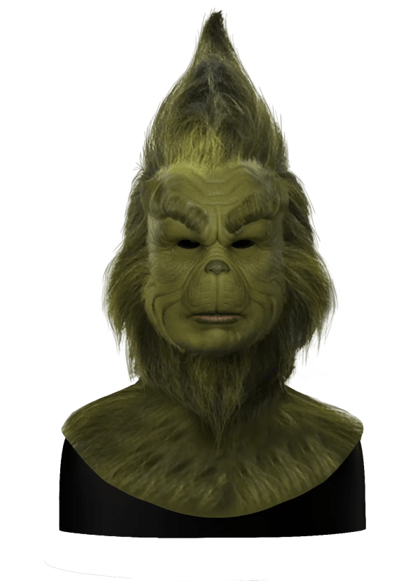 Hyper Realistic Jim Carrey Grinch Silicone Mask for Halloween With Hair