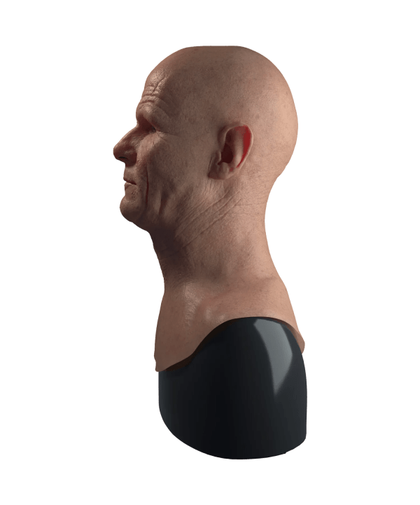 Hyper Realistic Walter White Breaking Bad Silicone Mask for Disguise Left Profile View